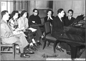 classe d'harmonie de Maurice Duruflé